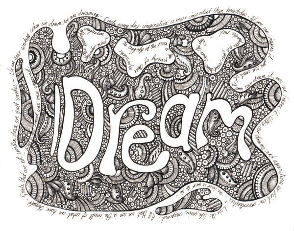 Dream  - Ink Illustration - May 30th 2012