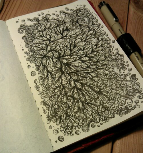 mad waiting room doodle in my moleskin